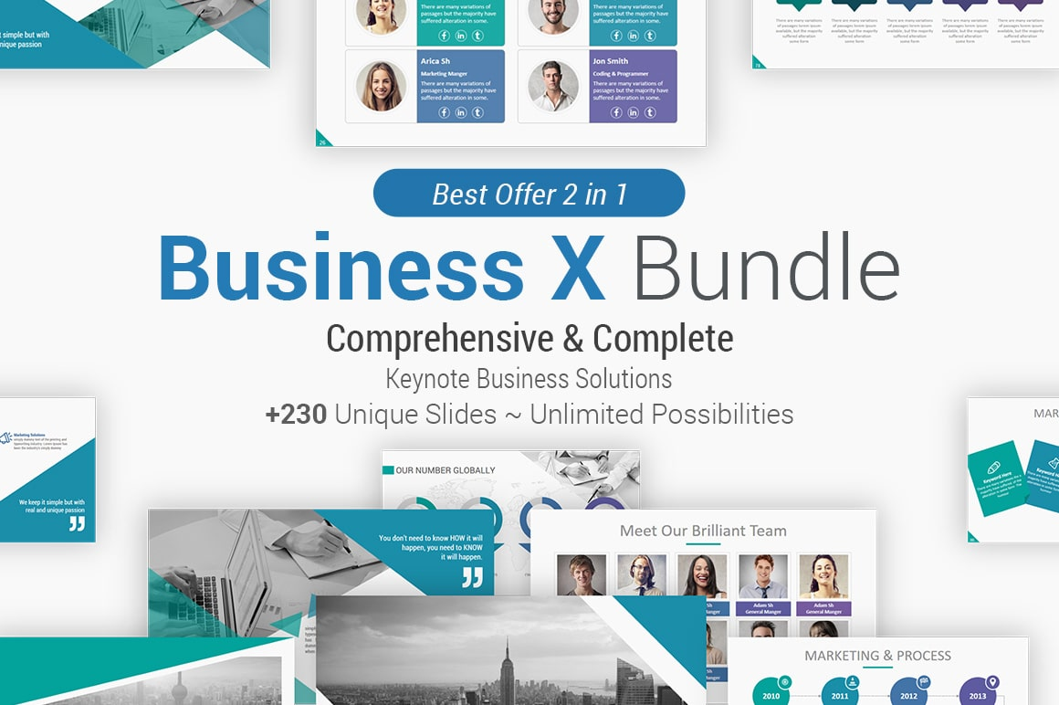 Creative Multipurpose Keynote Presentation Bundle