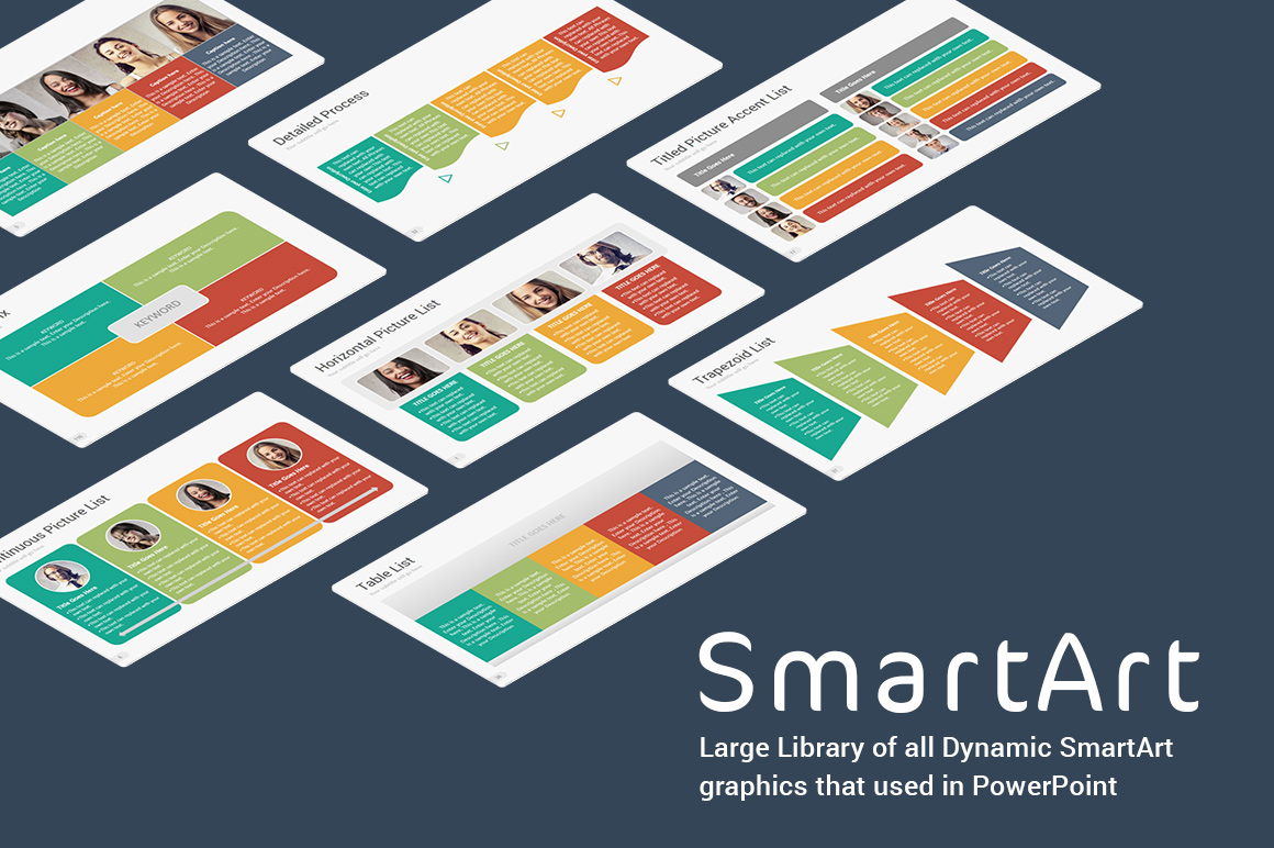 SmartArt Library PowerPoint Presentation Template