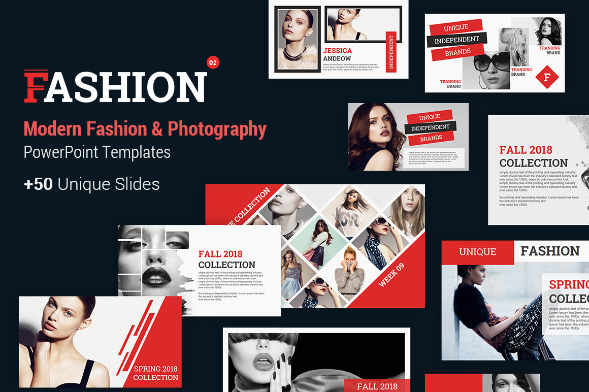 Fashion and Photography PowerPoint Template