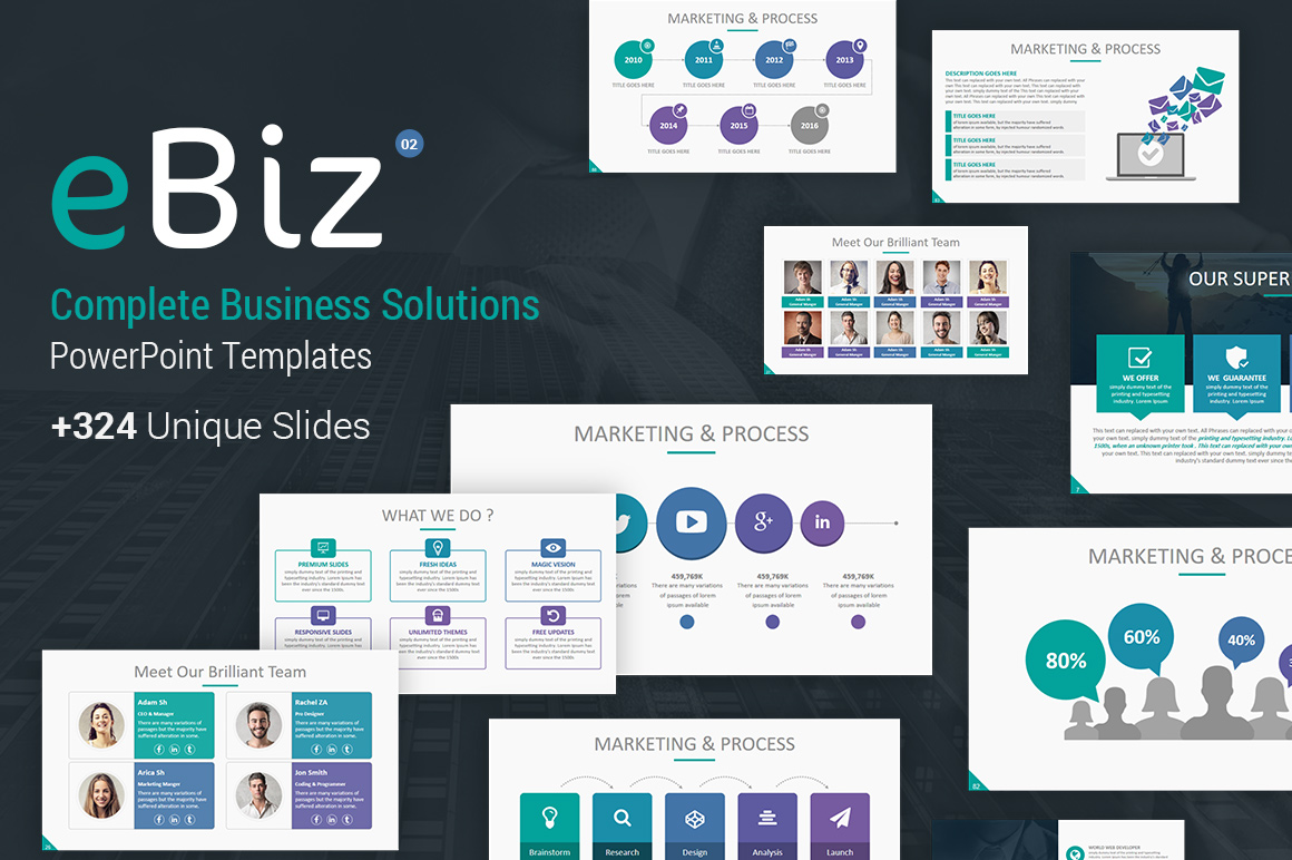 Complete Business Solutions PowerPoint Template