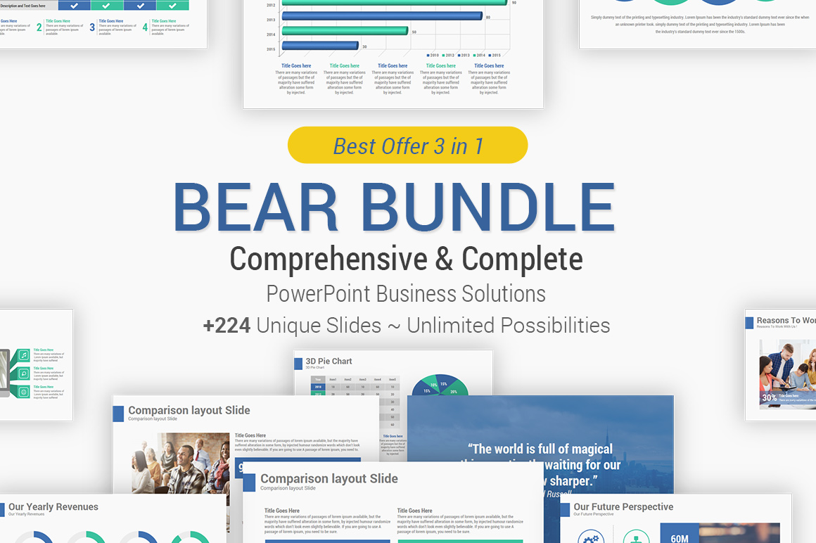 Best business solutions powerpoint template bundle