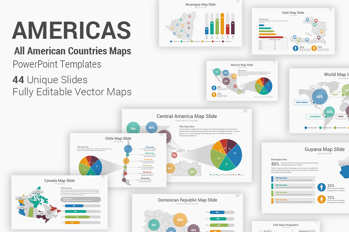 Americas Maps PowerPoint Presentation Template