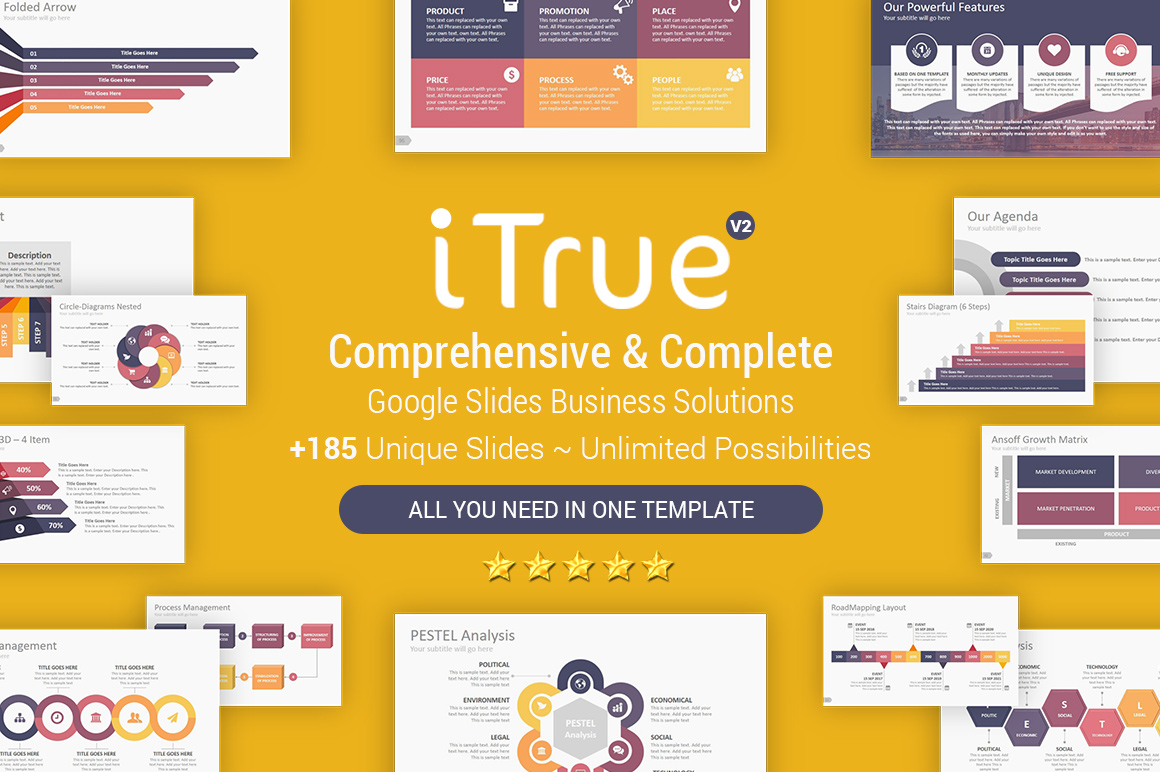 Powerful Multi Business Google Slides Template Them