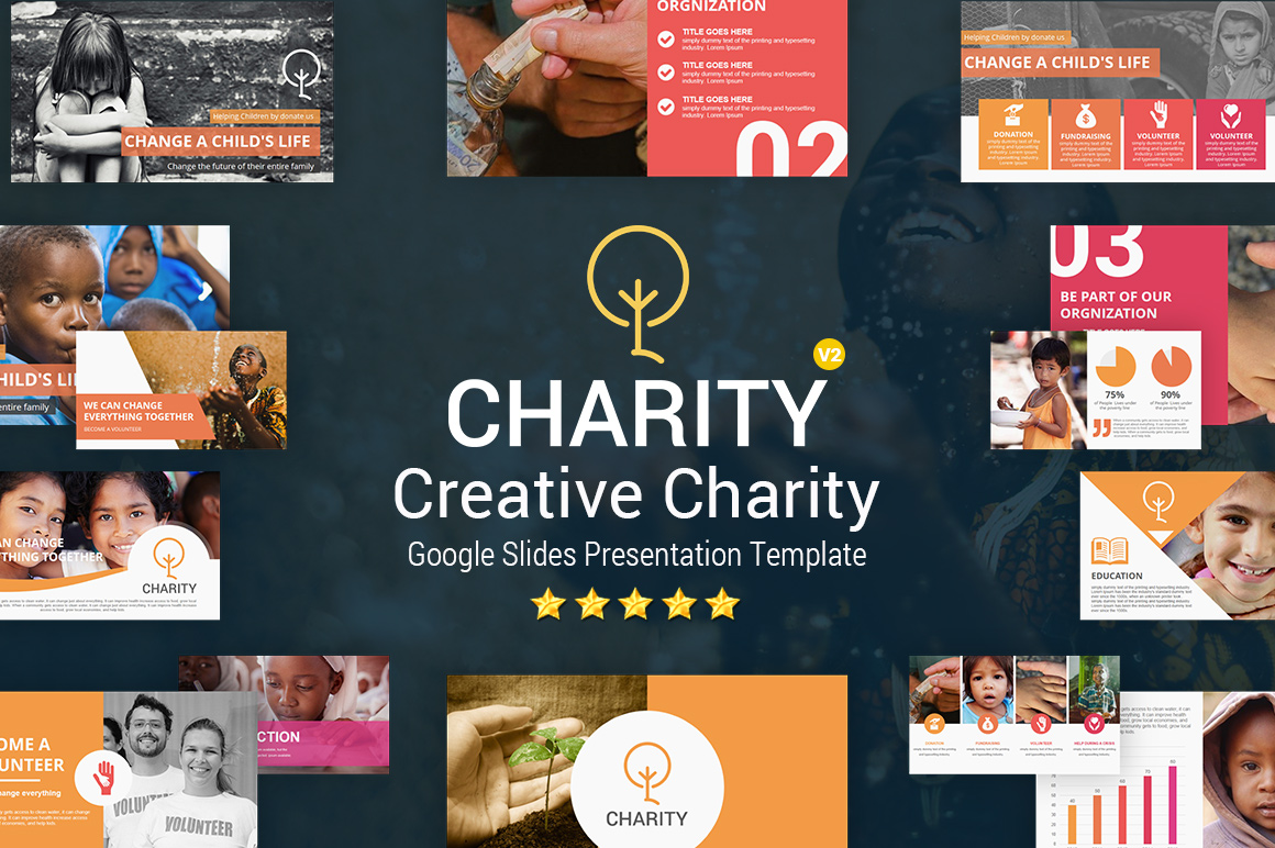 Charity Google Slides Presentation Template