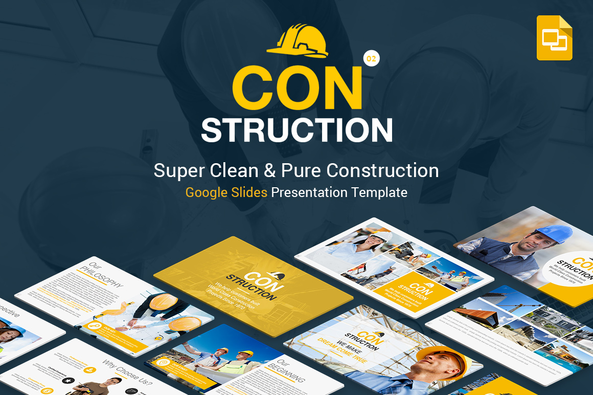 Construction Google Slides Presentation Template