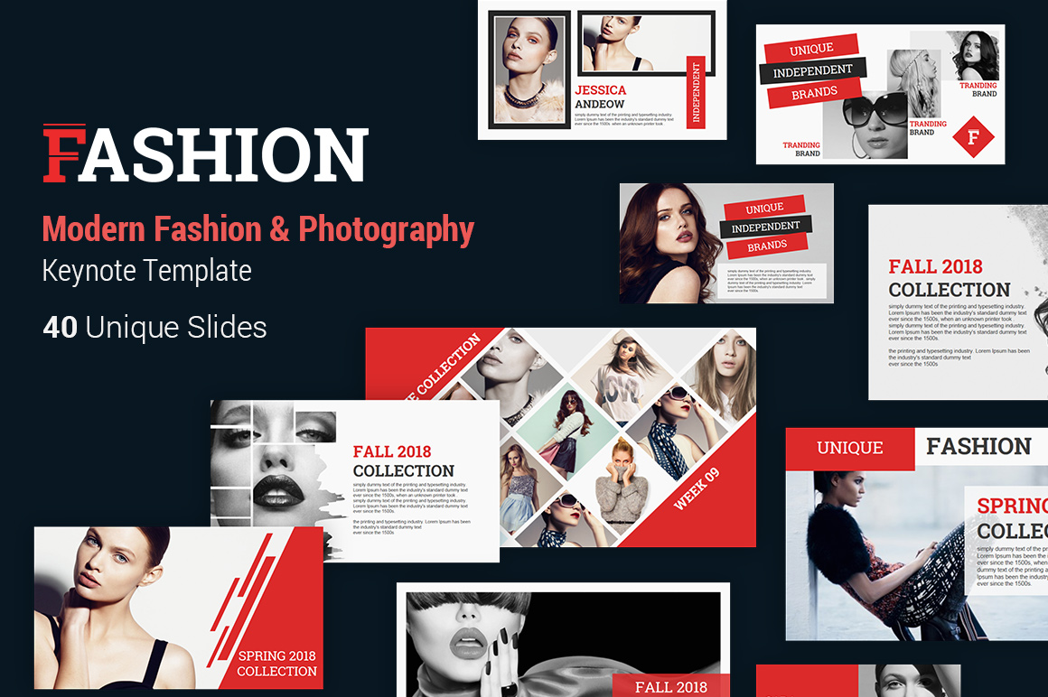 Fashion and Photography Keynote Presentation Template