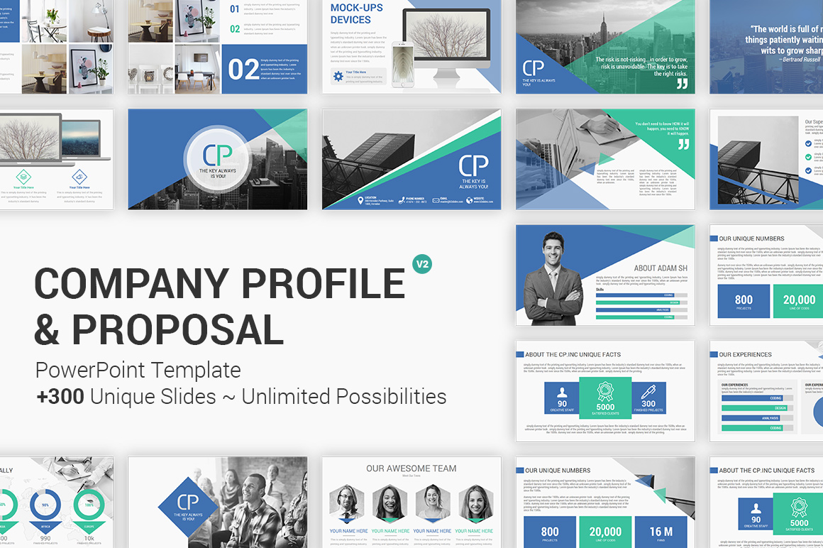 Company Profile and Proposal PowerPoint Presentation Template
