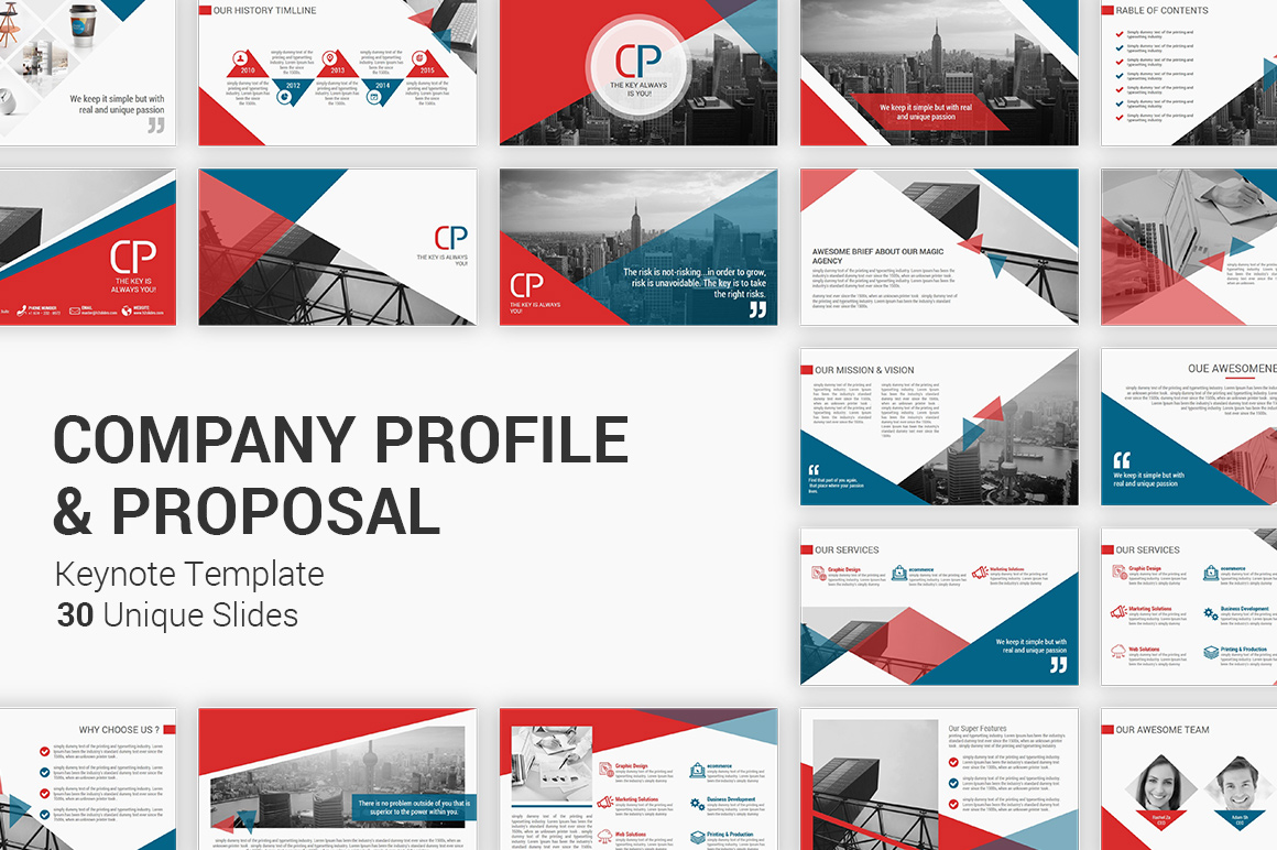 Company Profile and Business Proposal Keynote Presentation Template