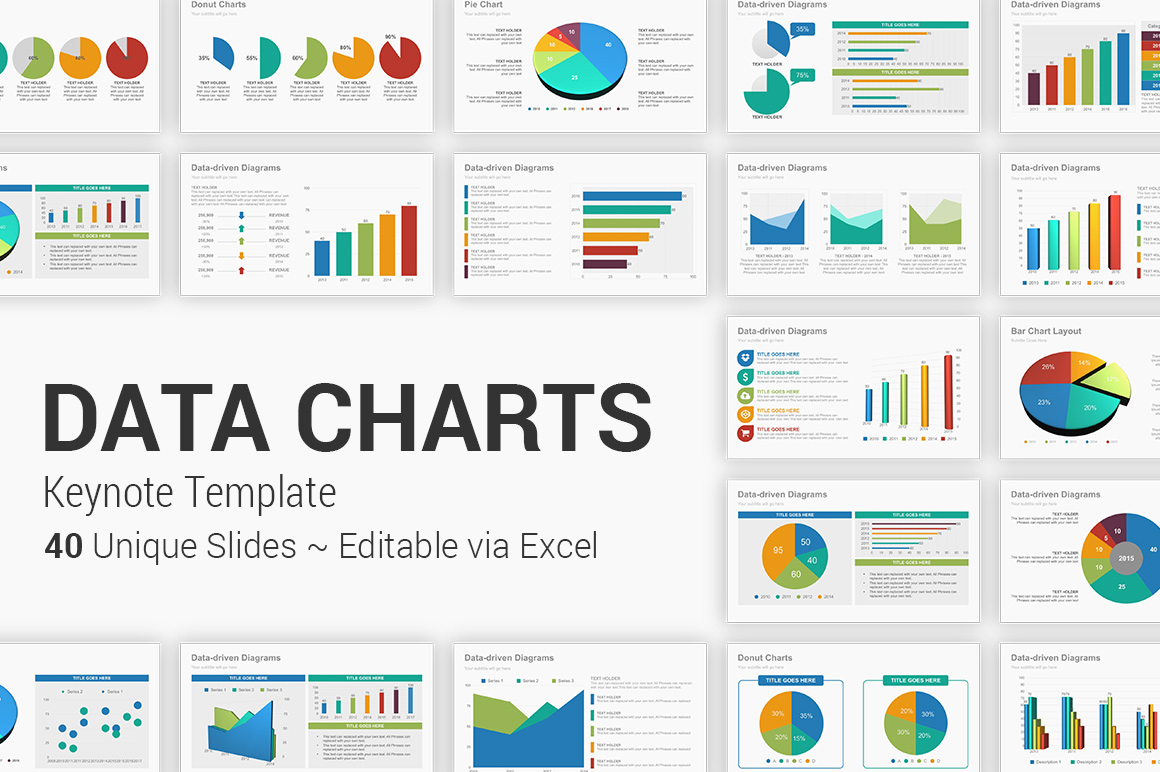 Data Charts Keynote Presentation Template