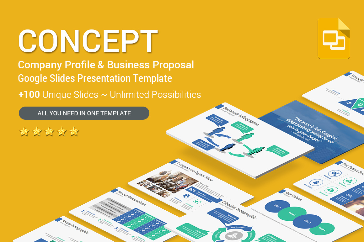 Company Profile and Business Proposal Google Slides Templates